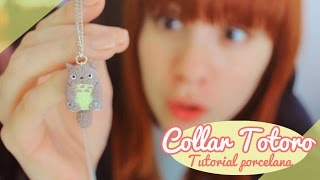 getlinkyoutube.com-♡ Collar de Totoro! / Tutorial porcelana en frío ♡ By Piyoasdf