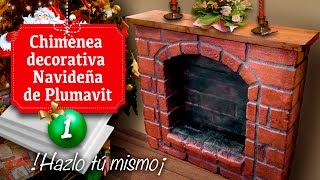 getlinkyoutube.com-Chimenea decorativa Navideña de Plumavit