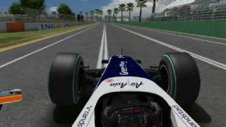 Williams 2010 Barrichello Albert Park On Board Lap