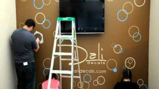 getlinkyoutube.com-Dali Wall Decals - Circles and Bubbles Installation