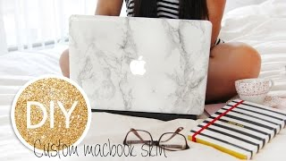 getlinkyoutube.com-DIY Marble Macbook Skin/decal/cover