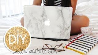 DIY Marble Macbook Skin/decal/cover