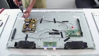 getlinkyoutube.com-LED Strip Replacement Tutorial - LG 42LN TV - How to Replace the LED Strips No Backlights
