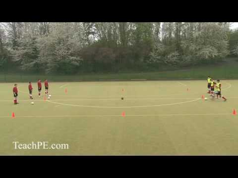 Soccer Drills - Fun and Games - Crossfire Drill