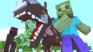 getlinkyoutube.com-Minecraft Escola Monstro #34 - Estudando DINOSSAUROS !!  Monster School