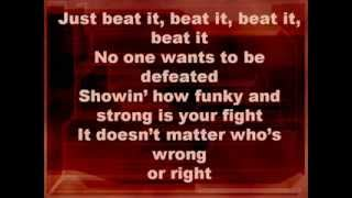 getlinkyoutube.com-Michael Jackson-Beat it (Lyrics)
