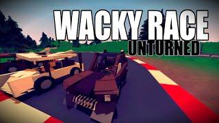 getlinkyoutube.com-Wacky Race - 20 min Car build Challenge w/Friends - Unturned update 3.14.5.0