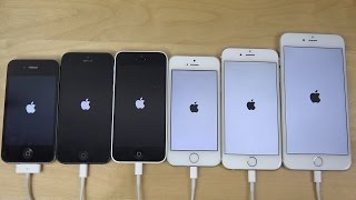 ios 8.1.2: apple iphone 6 plus vs. 6 vs. 5s vs. 5c vs. 5 vs. 4s - which is faster? (4k)