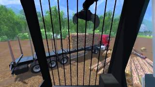 getlinkyoutube.com-FS 15 Unload Mammut Timber with Monster Excavator