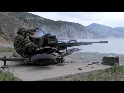 ZU 23-2 AA gun firing, HD video