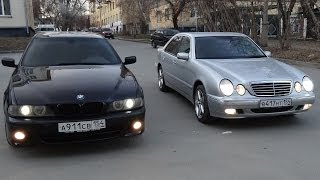 getlinkyoutube.com-Сравнительный Тест - Обзор Mercedes-Benz E-class w210 и BMW 5-series e39