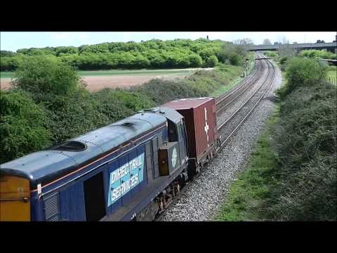 HD DRS 20302 20304 speed past norton on 6m56 berkeley-crewe flasks 14/4/14