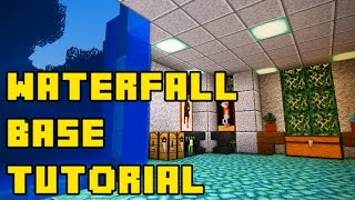 getlinkyoutube.com-Minecraft: Hidden Waterfall Base Tutorial Xbox/PE/PC/PS3/PS4