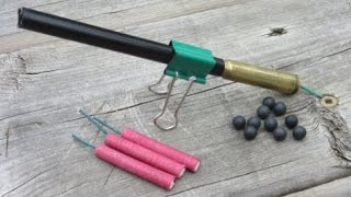 getlinkyoutube.com-Make an Easy Firecracker Cannon | Old Bullet Cartridge $2