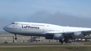 getlinkyoutube.com-Lufthansa 747-8i Missed Approach Turns Into Beautiful Landing @ KPAE