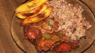 getlinkyoutube.com-HOW - TO MAKE REAL JAMAICAN STEW CHICKEN , JAMAICAN RICE & PEAS WITH JAMAICAN PLANTAINS