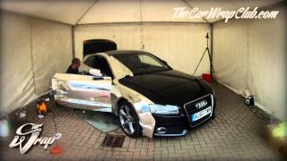 getlinkyoutube.com-Audi A5 wrapped in chrome time-lapse