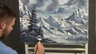 getlinkyoutube.com-Paint with Kevin Hill - Large Snowy Mountains wet on wet HD
