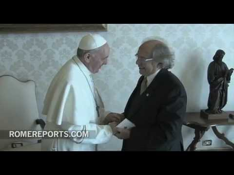 El Papa Francisco se reencuentra con el Nobel de la Paz  Prez Esquivel
