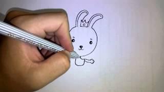 getlinkyoutube.com-วาดการ์ตูนกันเถอะ สอนวาดการ์ตูน เจ้าชาย กระต่าย ง่ายๆ หัดวาดตามได้