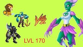 getlinkyoutube.com-Monster legends - Final level 170 - Cyan natura Boss