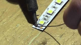 getlinkyoutube.com-How to solder connect LED Strip Light