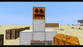 getlinkyoutube.com-Como hacer un golem de hierro - Minecraft- Tutorial