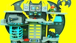 getlinkyoutube.com-Imaginext Batman Batcave with Robin & Batman Bane tries to to take Gotham City