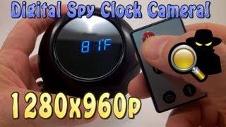 getlinkyoutube.com-Digital Spy Clock Hidden Camera 1280x960 Video Resolution!