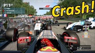 getlinkyoutube.com-F1 2014 HUGE Crash - Pastor Maldonado Red Flag Race