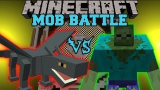 getlinkyoutube.com-IRON DRAGON VS MUTANT ZOMBIE - Minecraft Mob Battles - Mutant Creatures and Runescape Mods