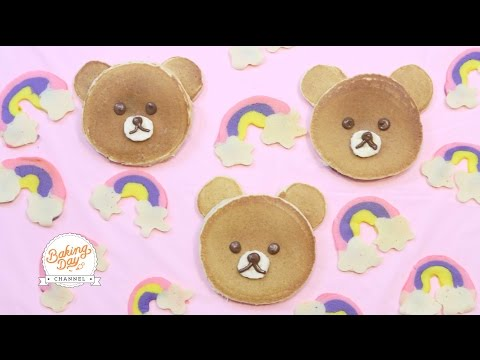 PANCAKES OSITO KAWAII (RELLENOS DE NUTELLA) - BAKING DAY CHANNEL