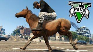 getlinkyoutube.com-GTA V MONTANDO A CABALLO Y CARRERA DE CABALLOS EN GTA !! Horse in GTA V MODS Makiman