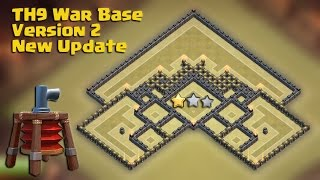 getlinkyoutube.com-Town hall 9 (TH9) Best War Base 2015 Version 2 New Update Air Sweeper + All combo TH10 Attack Replay