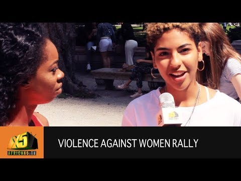Violence against Women Movement in Central Park NY