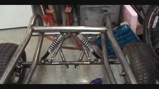 getlinkyoutube.com-Go Kart Four Link Front Suspension Completed