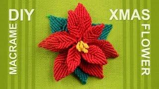 getlinkyoutube.com-How to make Christmas Flower (Poinsettia)