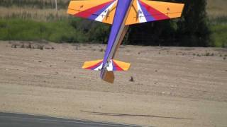 getlinkyoutube.com-RC Giant Airplane Airshow 3D Crash to Electricity Wire Chino 2011 June