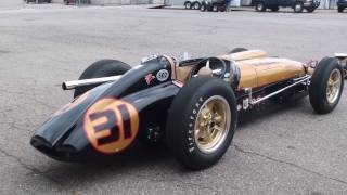 getlinkyoutube.com-Vintage Racing - 1950s Indy Cars startup and race. LOUD!!!