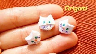 getlinkyoutube.com-Origami 3D =^-^= Cat Faces ∾ Faccine di Gatto - How To / Tutorial