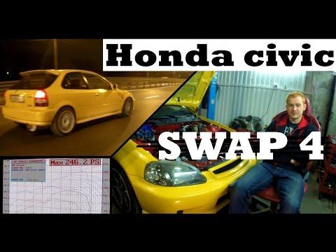 4/4 Свап Honda Civic (6 gen): о косяках свапа, графики K20A и B18c4, еще раз о масляных насосах