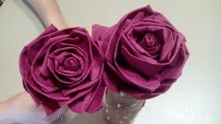 getlinkyoutube.com-Цветы из салфеток своими руками