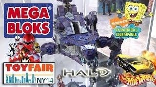 getlinkyoutube.com-MEGA BLOKS at NY Toy Fair - HALO Scarab, Hot Wheels, Sponge Bob, Power Rangers, Kapow 2014