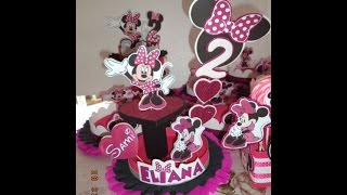 getlinkyoutube.com-Como hacer Centro de mesa MINNIE de una base - DIY