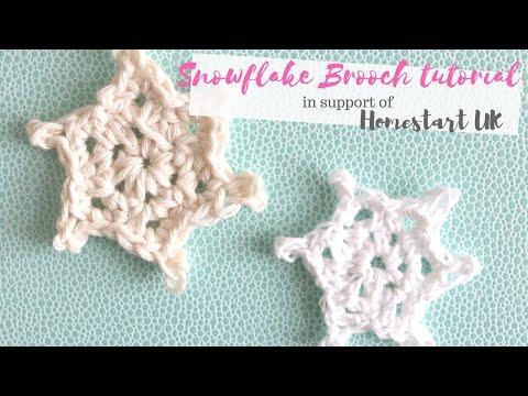 CROCHET: Snowflake brooch | Bella Coco