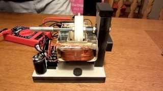 getlinkyoutube.com-Microwave Transformer Magnet Motor