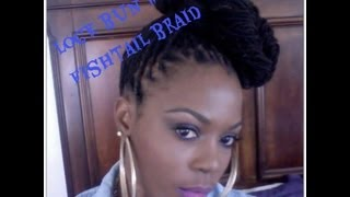 getlinkyoutube.com-Lock Bun with Fishtail Braid