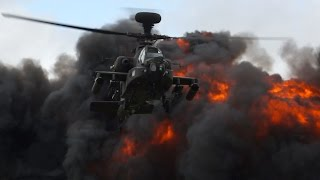 getlinkyoutube.com-Apache WAH-64D Longbow AH1 Army Air Corps Power Demo RIAT Sunday 13 July 2014 Air Show