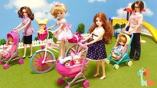 getlinkyoutube.com-リカちゃん おせわベビーカー みつごの赤ちゃんと公園 / Licca-chan Doll , Baby Infant Carriage Stroller
