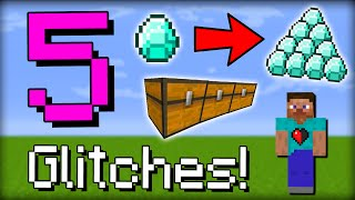 getlinkyoutube.com-✔ Minecraft: 5 Easy Useful Glitches | Triple Chest, Dupe Glitch, No Fall Damage